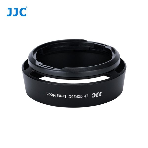 我愛買(黑色)JJC副廠Fujifilm螺牙遮光罩LH-XF35II遮光罩LH-XF35II遮陽罩LHXF35II太陽罩XF 23mm 35mm F2.0 R WR遮罩