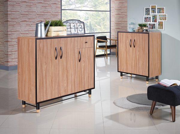 【森可家居】洛特2.7尺鞋櫃 7JX275-4 木紋質感 北歐工業風