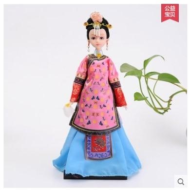 [銀聯網] 中國風娟人娃娃人偶絹人家居裝飾擺件 1入