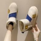 雪地靴女2021秋冬季新款加厚加絨棉鞋厚底防水防滑百搭一腳蹬短靴 滿天星