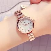 品牌珂紫小巧表盤女士手錬學生腕表精緻石英女性鋼帶簡約手錶     蘑菇街小屋