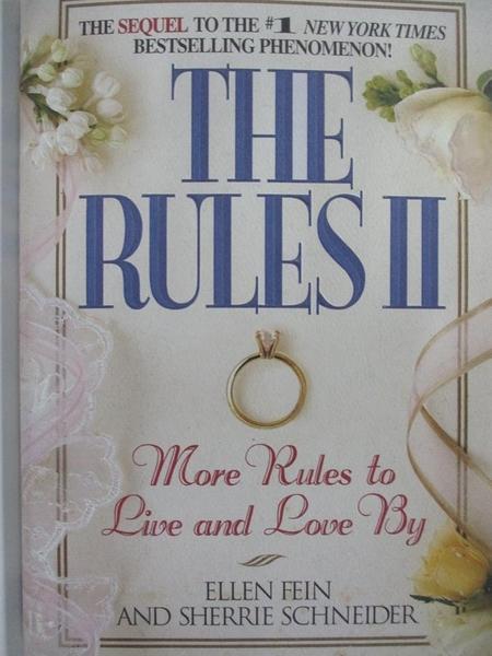 【書寶二手書T1/兩性關係_HF9】The Rules II: More Rules to Live and Love by