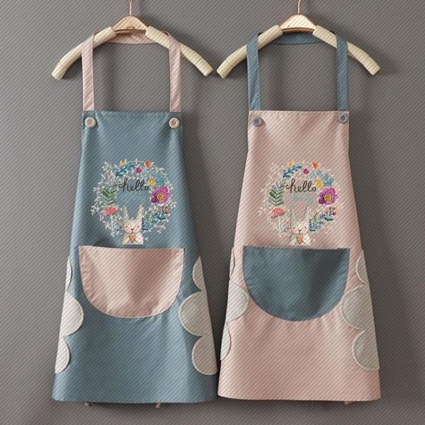 時尚家用可愛廚房做飯圍裙女防水防油圍腰男士工作服