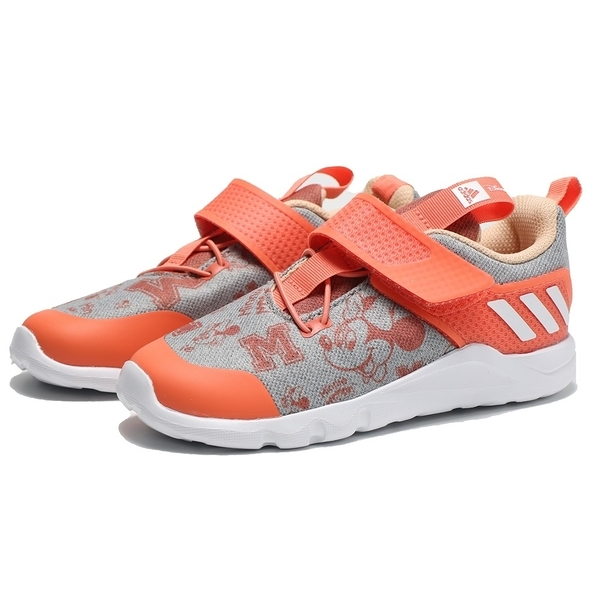 ADIDAS 童鞋 RAPID 迪士尼 米奇 灰橘 黏帶 小童 (布魯克林) EF9733