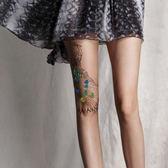 日系原宿風超薄性感圖案印花絲襪個性假紋身刺青花紋肉色連褲襪女