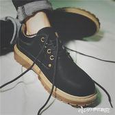 皮鞋低筒鞋子英倫百搭休閒增高圓頭學生馬丁鞋韓版工裝短靴男鞋潮  Cocoa