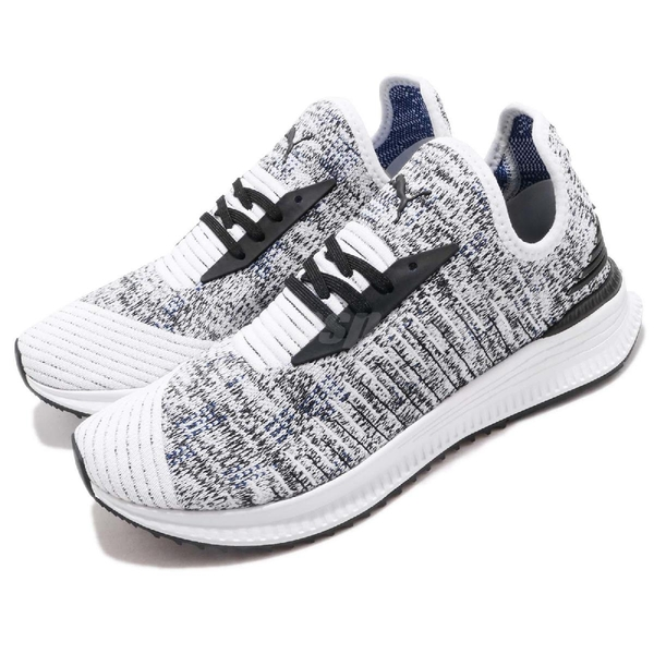 Puma 休閒慢跑鞋 AVID EvoKnit Mosaic 白 黑 雪花 襪套 男鞋 女鞋 運動鞋 【PUMP306】 36660106