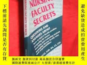 二手書博民逛書店Nursing罕見Faculty Secrets (小16開)