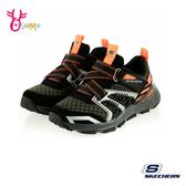 Skechers TURBO SPIKE 中大童 強勢撞色 運動鞋 慢跑鞋 T8228#黑橘◆OSOME奧森鞋業