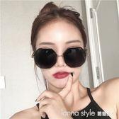 墨鏡女新款多邊形大框韓版潮復古原宿風圓臉顯瘦太陽眼鏡街拍  LannaS