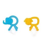 Kids II Soothing Solution 大象小狗固齒器環(藍/黃)KI40004[衛立兒生活館]