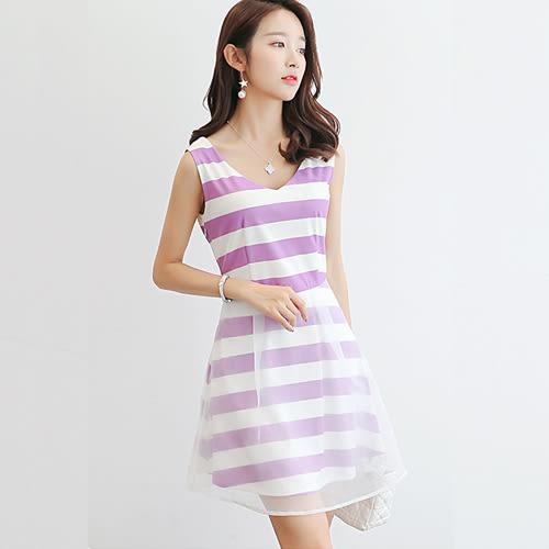 韓版百搭顯瘦時尚休閒連衣裙 0017H 彼得麗絲