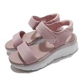 Skechers 涼鞋 D Lux Walker-New Block 女鞋 粉 白 魔鬼氈 厚底 增高【ACS】 119226BLSH