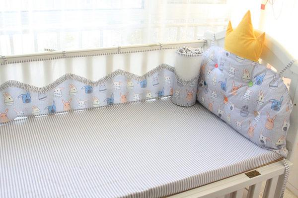【純棉】嬰兒床圍-F款-((大皇冠+3面波浪床圍))