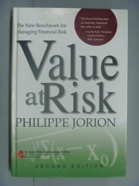 【書寶二手書T7/財經企管_ZIE】Value at risk_Philippe Jorion.