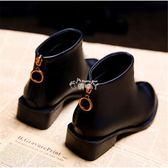 女式靴子 小短靴女小跟新款潮韓版低跟粗跟馬丁靴子 俏腳丫