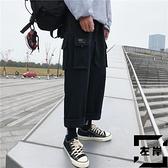 工裝褲子男夏季寬鬆束腳褲直筒休閒褲韓版潮流【左岸男裝】