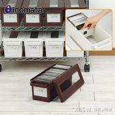日本進口INOMATA創意光盤收納盒視窗CD置放箱DVD光盤整理盒碟片盒CY『新佰數位屋』
