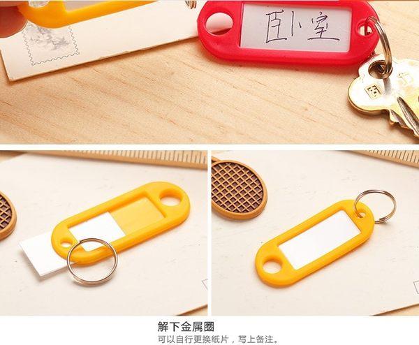 [協貿國際]  彩色鑰匙標籤牌客房號碼牌 (50個價)