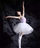 芭蕾舞裙成人舞蹈紗裙比賽天鵝舞演出服裝半身蓬蓬裙寫真拍照紗裙