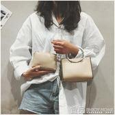 手提包上新包包女新款韓版小方包圓環手提包百搭鏈條單肩斜挎子母包 99免運
