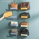 包包收納包包收納架壁掛置物架家用免打孔置物架衣帽架懸掛式門後掛包神器 快速出貨