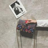 斜背包 少女小挎包單肩包漸變色鏈條盒子包【紐約周】