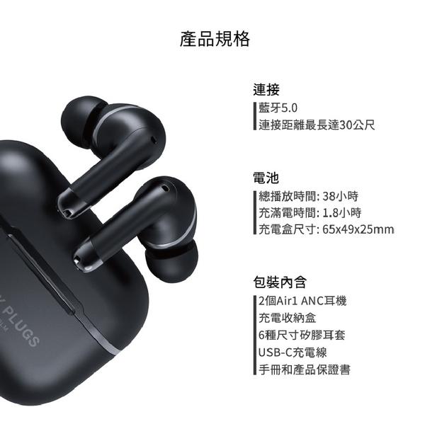 【台中愛拉風│創業加盟】Happy plugs 新款 Air 1 anc 主動式降噪藍牙5.0耳機 支援Qi無線充電