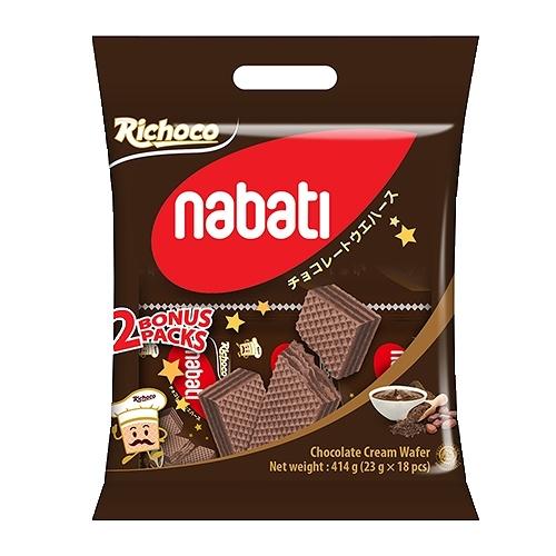 麗巧克 Nabati 巧克力威化餅414g【愛買】