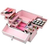 LRYX箱包 化妝箱-鋁合金粉嫩色彩多隔層美甲美妝專業工具箱
