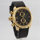 【萬年鐘錶】elegantsis  三眼  強悍 磨登 展現獨立個性風格女錶 金色系 43mm  ELJT48S-OB08LC