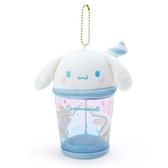 小禮堂 大耳狗 造型透明玩偶收納包 掛飾收納包 玩偶展示包 (藍白 熱帶沙灘) 4550337-58885