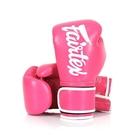『VENUM旗艦館』 14oz Fairtex 健身房拳擊手套~重擊打沙袋拳套~個性化改裝-桃紅白 BGV14