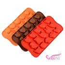 wei-ni 矽膠模卡通動物造型 15連 蛋糕模 矽膠模具 巧克力模型 冰塊模型 手工皂模 製冰盒 餅乾模具