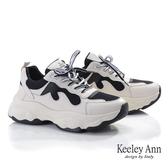 ★2019秋冬★Keeley Ann輕運動潮流 復古拼接色調老爹鞋(黑色)-Ann系列
