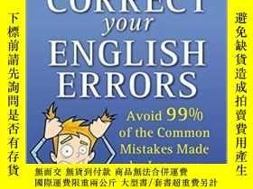 二手書博民逛書店糾正你的英語錯誤(第2版)英文原版罕見Correct Your English Errors(2nd Ed) Ti