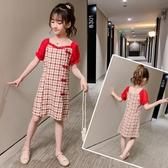 兒童洋裝 女童洋裝2020新款夏裝超洋氣小女孩公主裙中大童裝網紅裙子夏季