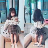 女童長袖襯衫-兒童寶寶長袖可愛百搭打底衫T恤 秋季新款童裝女童櫻桃襯衣 多麗絲