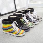 韓國加絨兒童雨靴男童女童短筒小孩防滑學生膠鞋雨鞋寶寶保暖水鞋活動商品85折