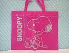 【震撼精品百貨】史奴比Peanuts Snoopy ~購物提袋_桃_大
