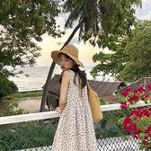 四葉草露背系帶棉麻挺版洋裝新品 均碼 鉅惠兩天【限時八五折】