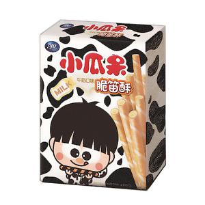 【可口】小瓜呆脆笛酥牛奶口味80g/盒,奶蛋素可食用【合迷雅好物超級商城】