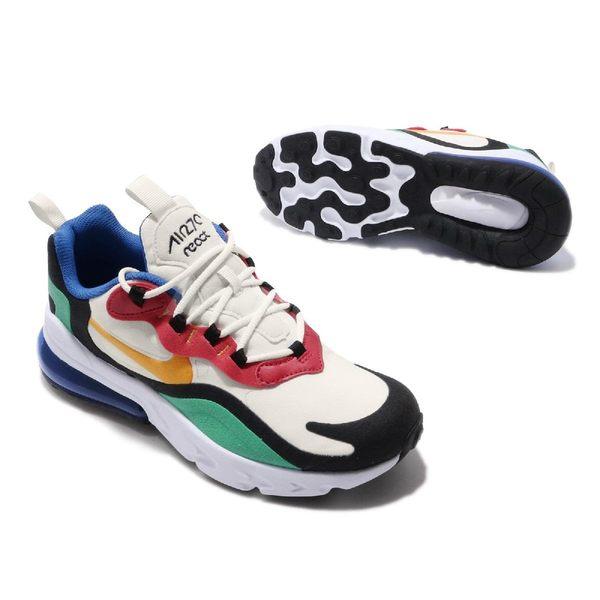 Nike Air Max 270 React GS Bauhaus 彩色 白 金黃 綠 女鞋 大童鞋 氣墊 慢跑鞋 【PUMP306】 BQ0103-001