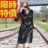 女款皮衣外套-明星同款學院風復古率性女機車夾克61z55【巴黎精品】