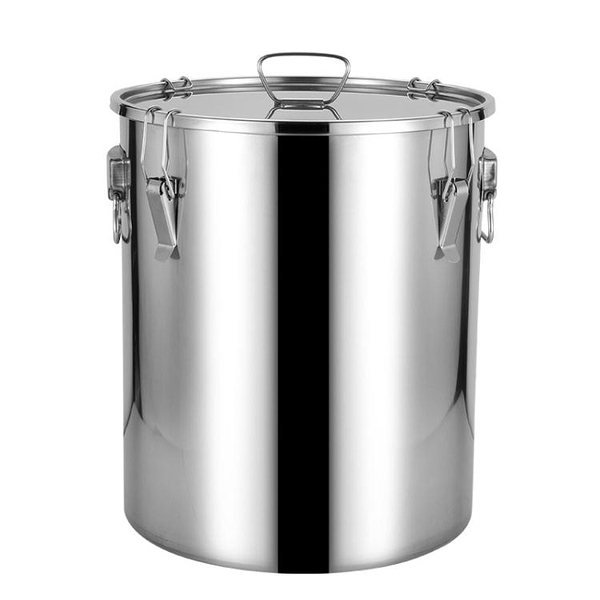 304不銹鋼油桶密封桶家用廚房加厚食用油花生油桶牛奶桶50斤100斤 樂活生活館