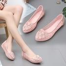 透氣網面單鞋一腳蹬女鞋2020夏季新款涼鞋平底鞋百搭鞋子春豆豆鞋 印象家品