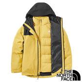 【THE NORTH FACE 美國】女 GORE-TEX二件式羽絨連帽外套『黑/黃』NF0A46I7 戶外 登山 保暖外套