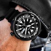 SEIKO 精工 / 4R36-05S0SD.SRPA81J1 / PROSPEX 悍將 潛水錶 機械錶 防水200米 矽膠手錶 黑色 50mm