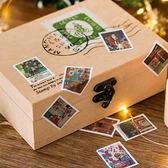 【BlueCat】聖誕來信盒裝貼紙 手帳貼紙 (45入)