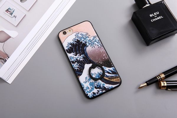 |文創現貨| iPhone 7 Plus i7 i7+ i6+ i6 i6S 6 6S 指環 手機殼 指環扣 指環支架 犀牛盾支架 海浪 波達